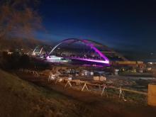 poświetlony most heleński, fot. Iga Michalec