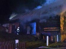 Pożar stodoły w Kiczni