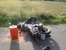 Barcice: Motocyklista przegrał starcie z osobówką. Połamany leży w szpitalu