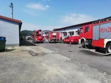 Pożar w Limanowej. Palił się największy salon meblowy w okolicy