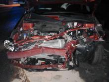 DK-75: Auta roztrzaskane i jedna osoba zabrana do szpitala