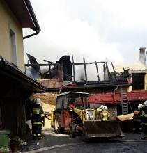 Pożar stolarni w Jurkowie ugaszony