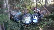 wypadek rolnika w Kaninie