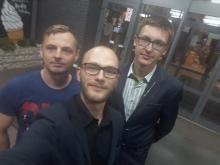 Organizatorzy akcji 'Przez Polskę po marzenia z nowosądeckim radnym Dawidem Dumaną