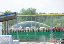 pożar składowiska odpadów w Gorlicach