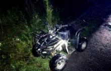 29-latek kierował quadem. Pojazd przewrócił się i przygniótł mężczyznę