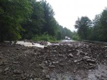 Nieprzejezdne były drogi również w okolicach Łącka. Fot. ASOA