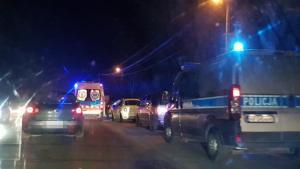 Zderzenie samochodów na ul. Marcinkowickiej w Nowym Sączu, fot. Rafał Gajewski