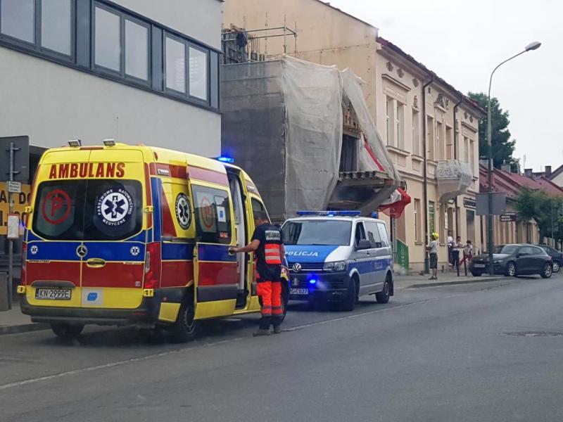 Z ostatniej chwili: wypadek na ul. Długosza. Rowerzystka trafiła do szpitala