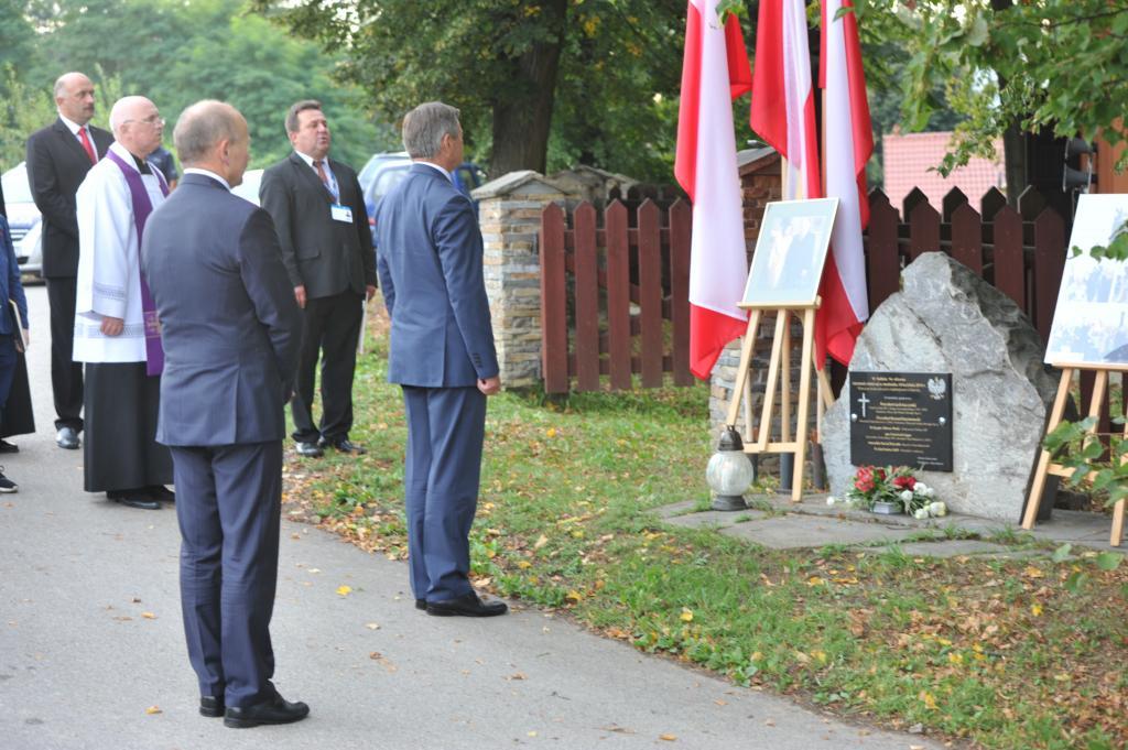 Marcinkowice, rok 2017, wizyta marszałka Sejmu Marka Kuchcińskiego