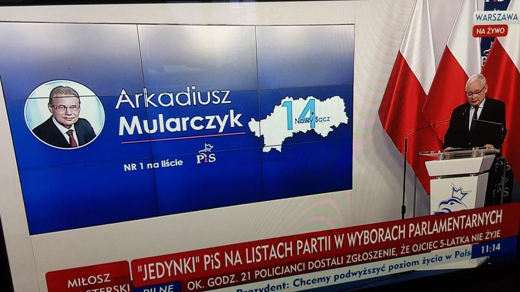 Arkadiusz Mularczyk numerem jeden na liście kandydatów PiS do Sejmu