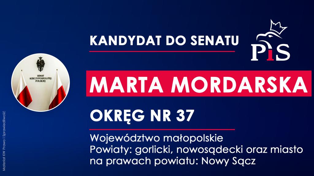 Marta Mordarska kandyduje do Senatu