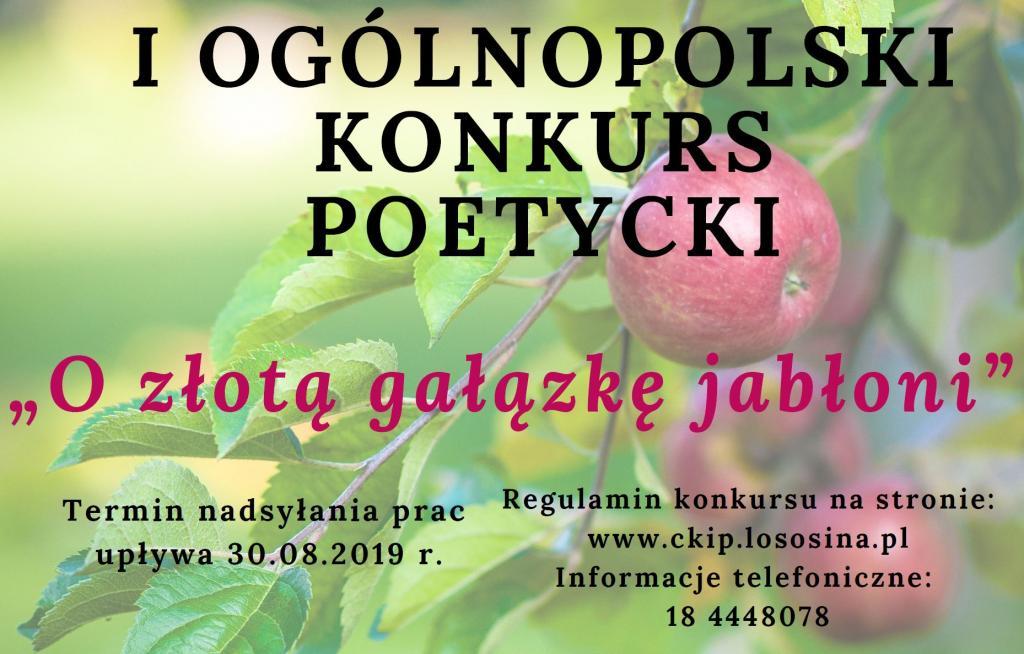 """Konkurs poetycki """"O złotą gałązkę jabłoni"""""""
