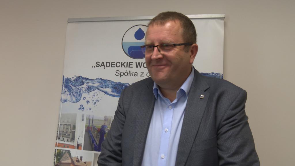 Tadeusz Frączek, prezes Sądeckich Wodociągów. Fot. Daniel Szlag