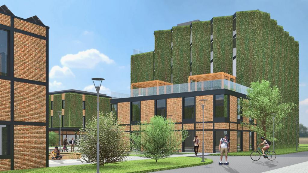 Campus Vitberg Nowy Sącz projekt wizualizacja
