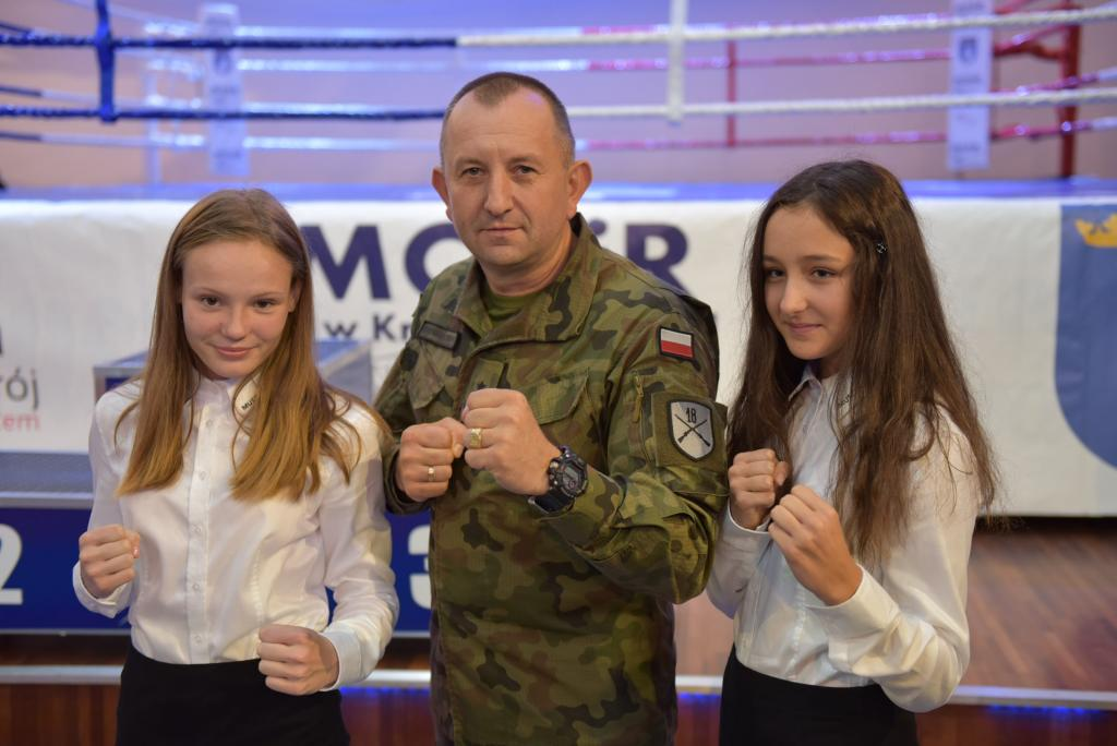 Generał Jarosław Gromadziński w Grand Chotowa - Mistrzostwa Polski Służb Mundurowych w kickboxingu