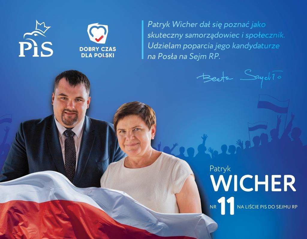 Patryk Wicher Beata Szydło