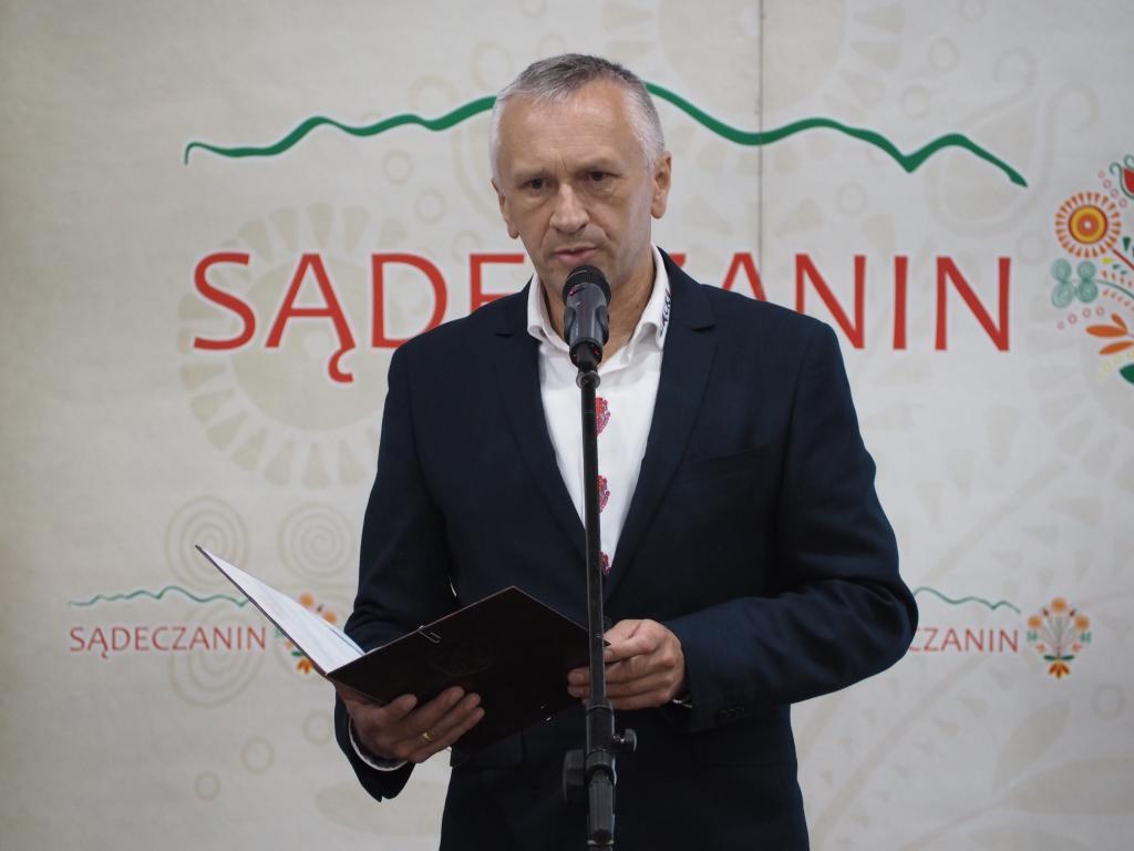 Wójt Jan Dziedzina był gospodarzem spotkania w Łącku