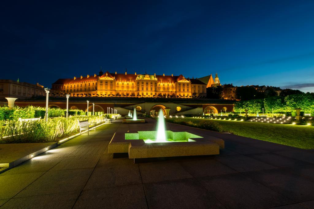 Realizacja Park - M, Ogrody Zamku Królewskiego w Warszawie