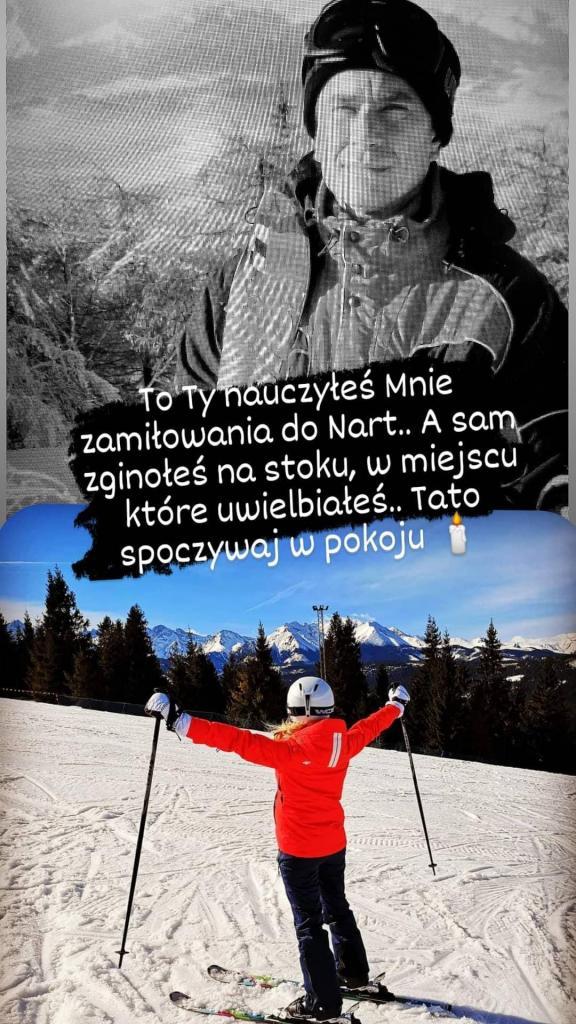 To Ty nauczyłeś mnie zamiłowania do nart...