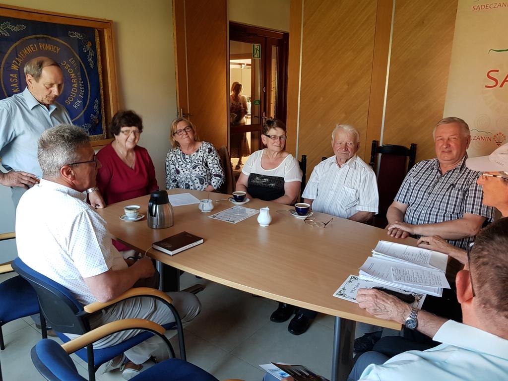 Posiedzenie zarządu Stowarzyszenia Sołtysów Ziemi Sądeckiej działającego od 2005 roku