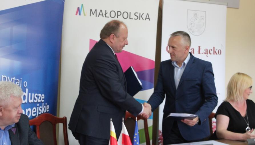 Jan Dziedzina i wicemarszałek województwa