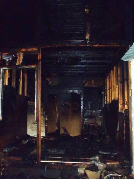 Pożar budynku gospodarczego w Rytrze