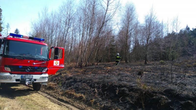 pożary suchych traw na Sądecczyźnie