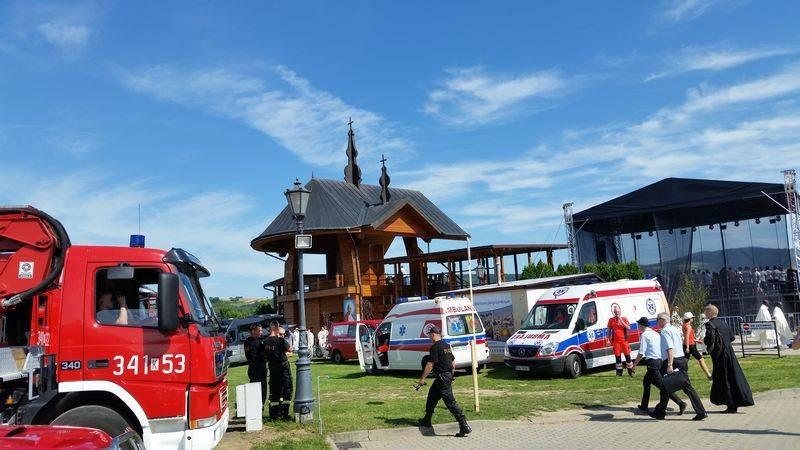 Strażacy z Sądecczyzny wspierają ratowników na ŚDM