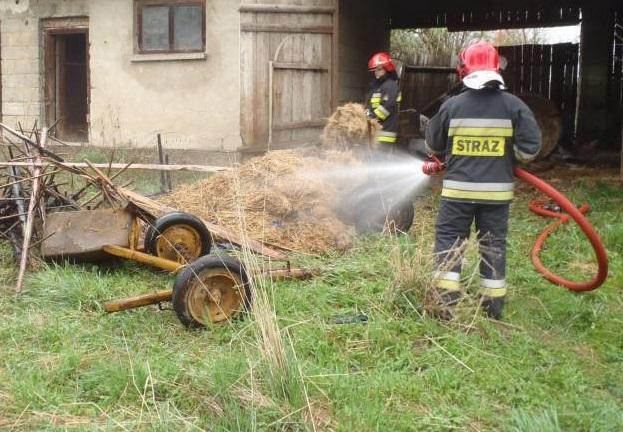 Pożar budynku gospodarczego w Podegrodziu