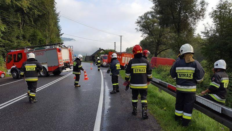 Opel wypadł z drogi w Witowicach Górnych