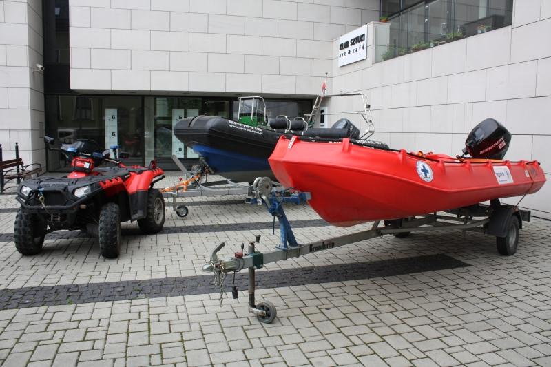 Draństwo złodzieje ukradli silnik łodzi WOPR