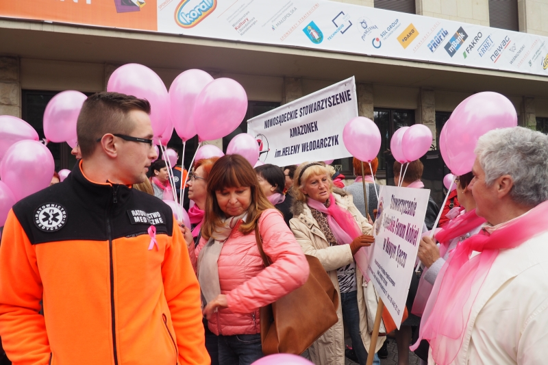 Marsz Różowej Wstążki w Nowym Sączu, fot. Iga Michalec