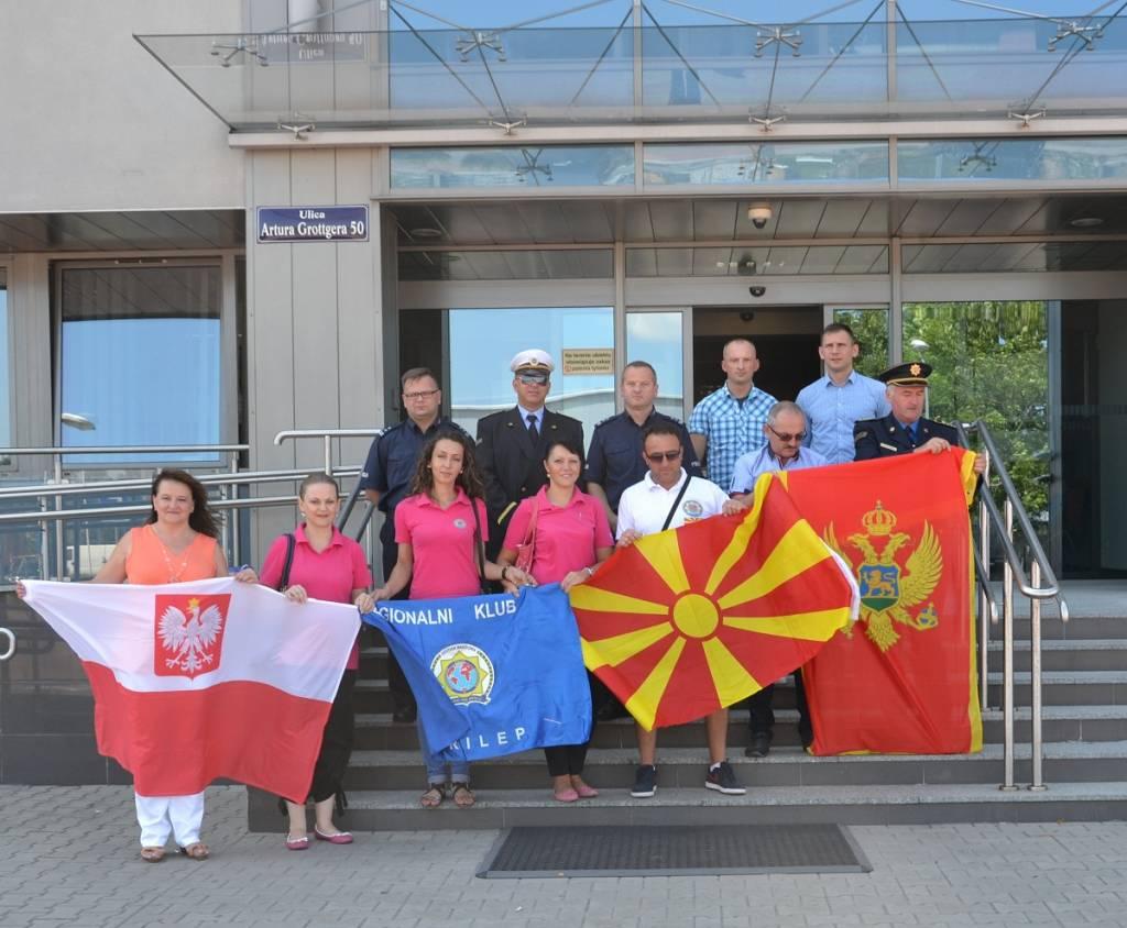 Policjanci z Macedonii i Czarnogóry z wizytą w Nowym Sączu
