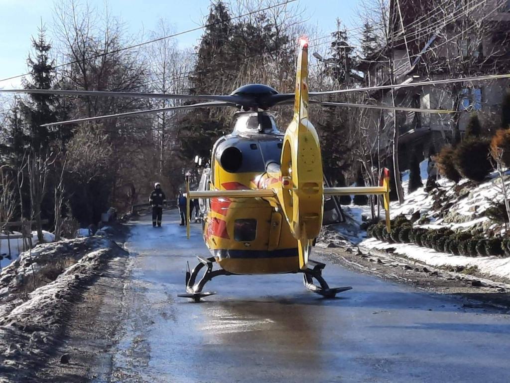 Wypadek podczas prac w lesie w Podobinie