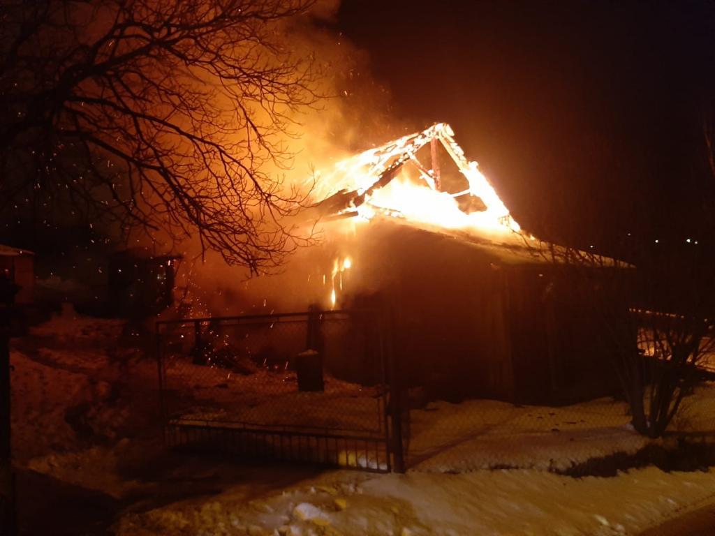 Pożar budynku gospodarczego w Nowym Sączu