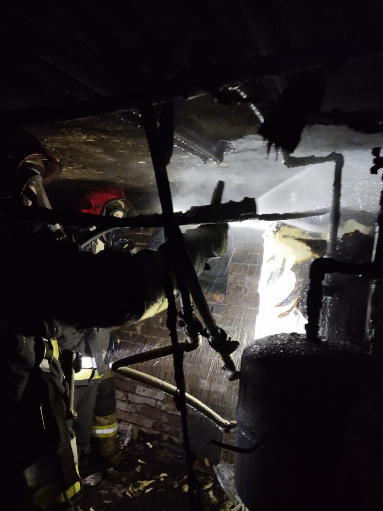 Pożar kotłowni w Ubiadzie