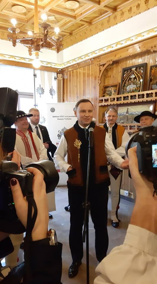 Prezydent Andrzej Duda spotkał się z Zarządem Głównym Związku Podhalan