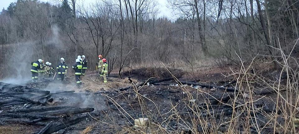 Pożar w gminie Biecz strawił budynek gospodarczy
