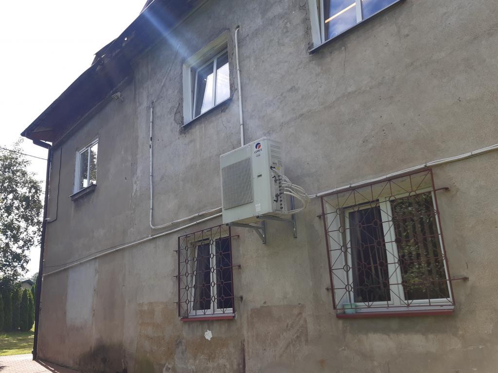 Tylna ściana budynku Urzędu Gminy w Łabowej, fot. Sądeczanin