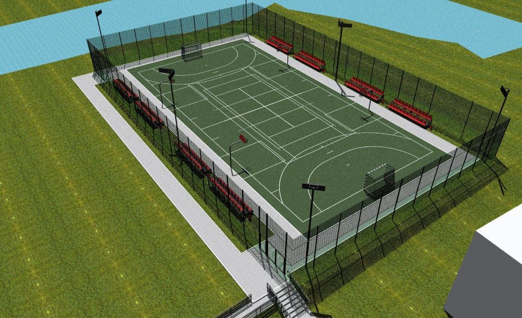 Projekt boiska w Nowej Wsi, fot. UG Łabowa