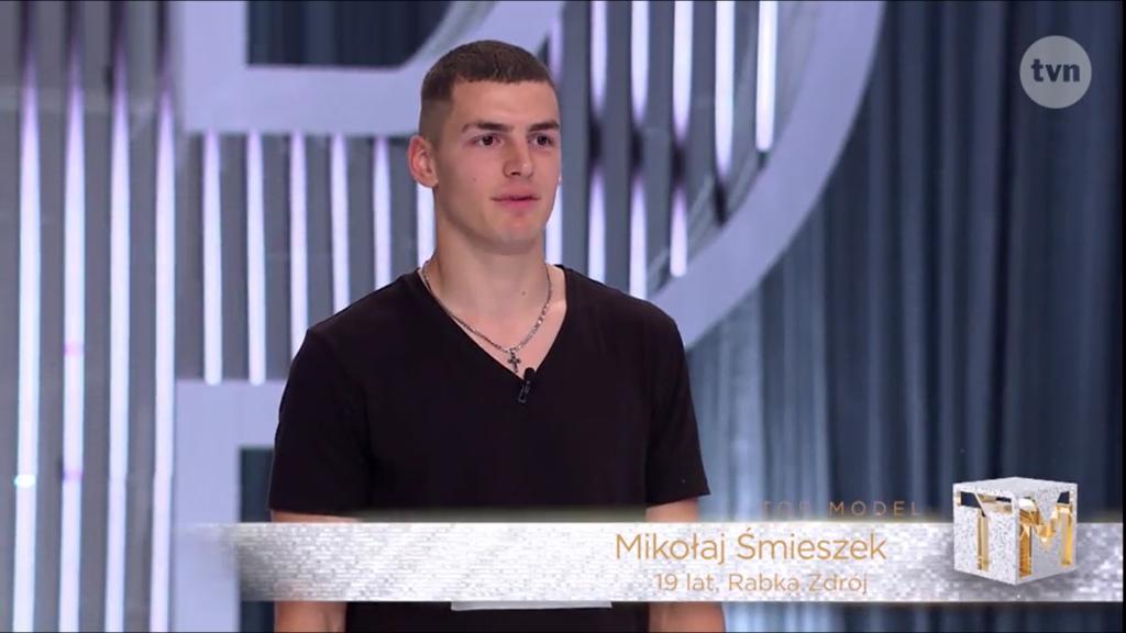 Mikołaj Śmieszek w Top Model, źródło TVN