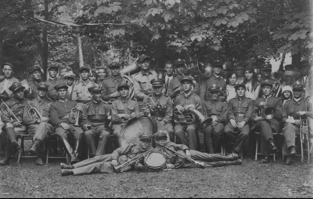 Orkiestra I Pułku Strzelców Podhalańskich. Narodowe Archiwum Cyfrowe
