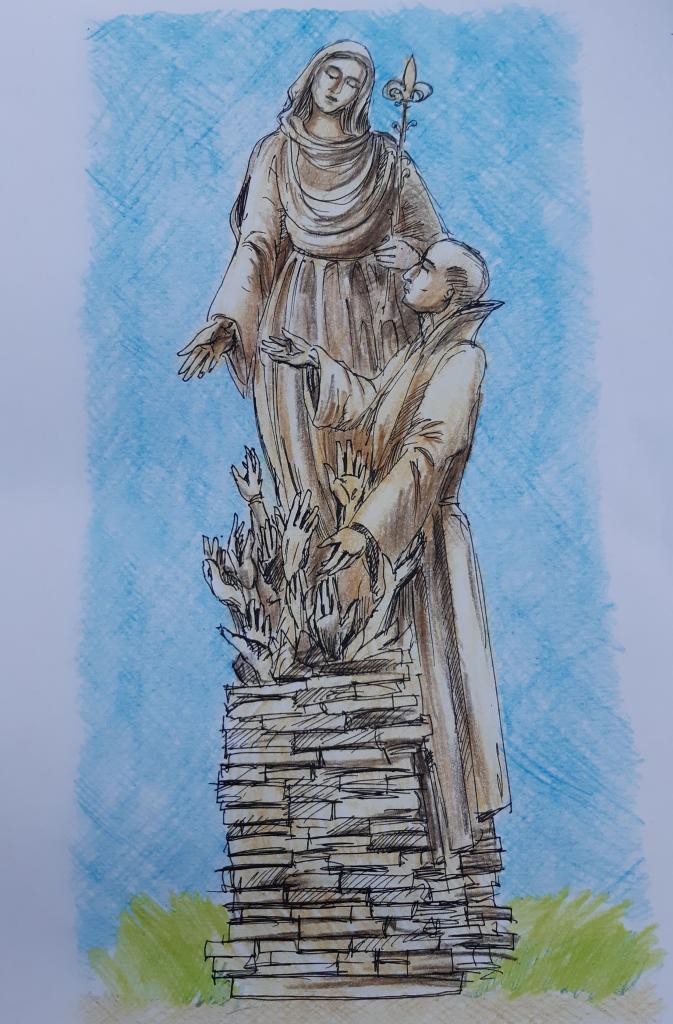 Projekt figur do kapliczki św Papczyńskiego w Podegrodziu. Fot. Sądeczanin