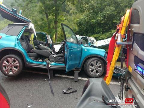 Tragiczny wypadek na drodze krajowej 75. Nie żyje kobieta