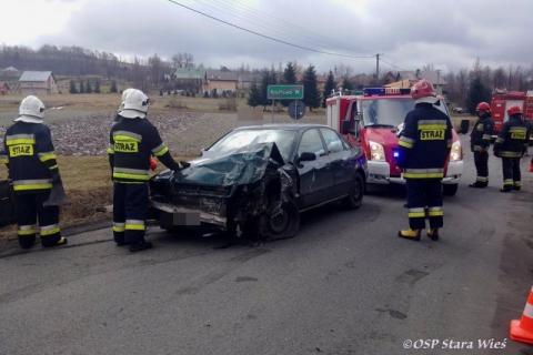 wypadek w Krużlowej