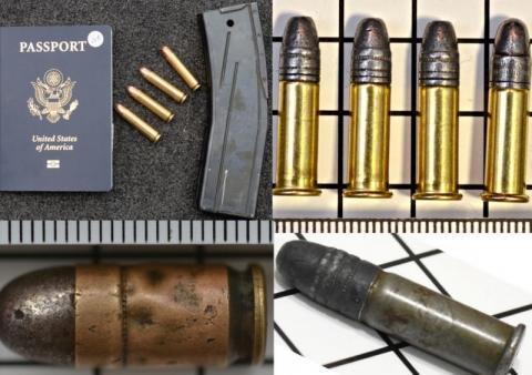 Zatrzymano cztery osoby.  W bagażu mieli broń i amunicję
