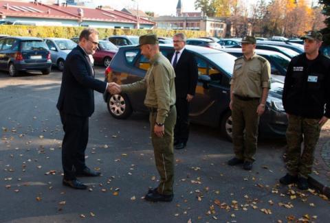 Sekretarz Stanu MSW z wizytą w Karpackim Oddziale Straży Granicznej