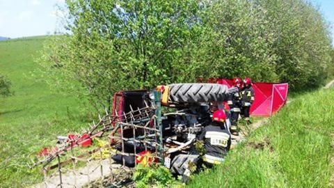 Tragiczny wypadek w Skrudzinie. Traktorzysta zginął na miejscu