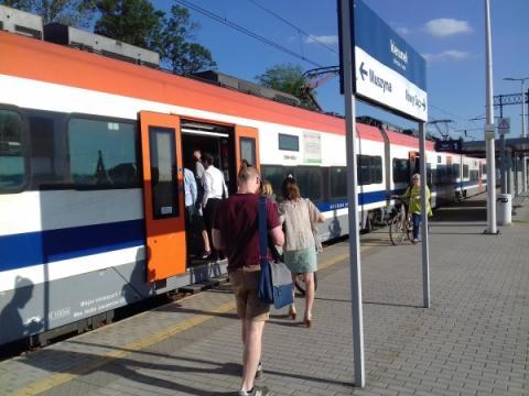 pociąg  Nowy Sącz - Rytro
